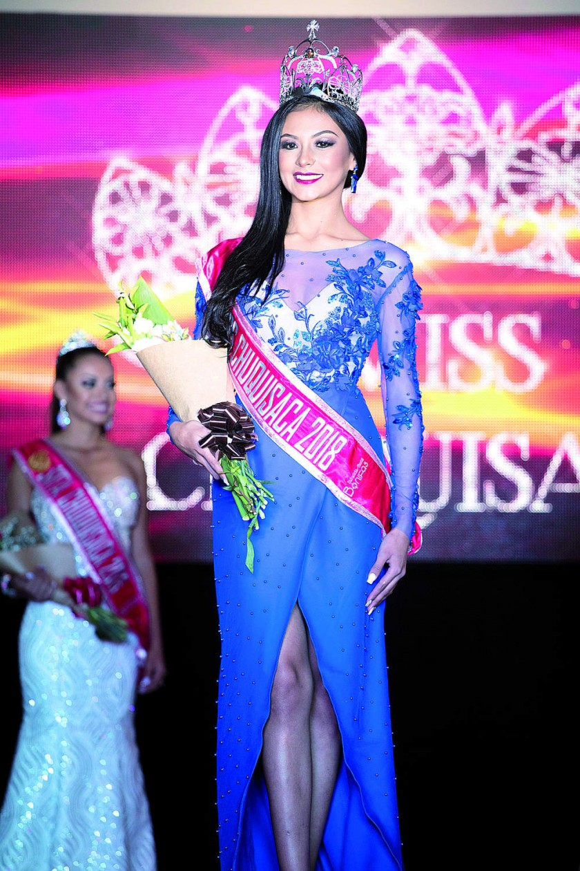 Miss Chuquisaca 2018, Elena Romero, de Villa Alcalá.