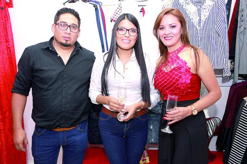 Marco Téllez, Claudia Daza y Naida Martínez.