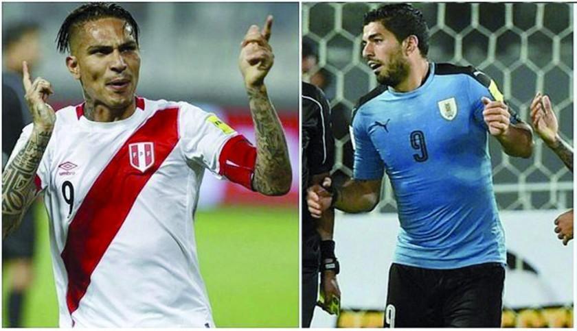 Paolo Guerrero recibió el apoyo del delantero charrúa (d) y del capitán de Uruguay por su sanción.