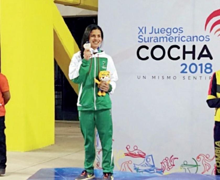 Karen Torrez sumó su segunda medalla de plata en natación