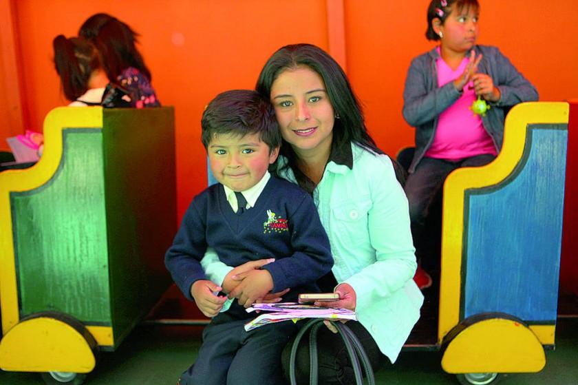 Sebastián Salces y Claudia Salces.