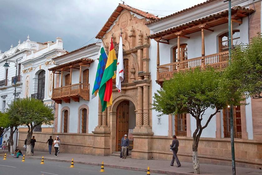 RESTAURACIÓN. La Escuela Taller Sucre intervino los balcones de la Casa de la Libertad.