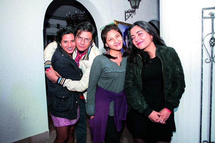 Alyanne Peñaranda, Juan Rodríguez,  Mariana Porcel y Andrea Martínez.
