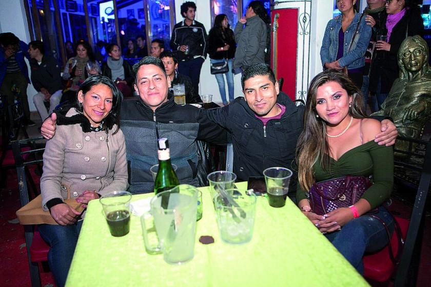Adriana Alurralde, Javier Ventiades, Hernán Salinas y Alejandra Ferreira.