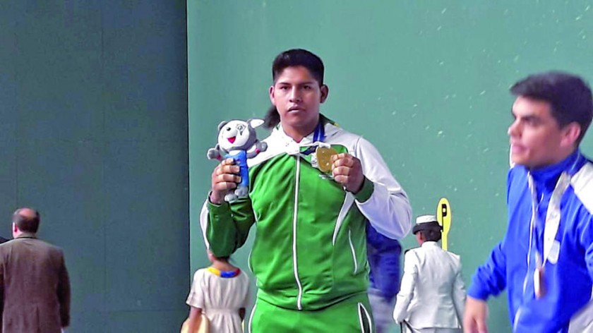 Milton Cayoja se colgó la medalla de oro en pelota vasca