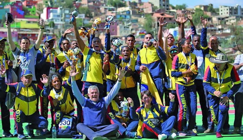 La delegación cafetera fue la mejor de los Juegos Sudamericanos.
