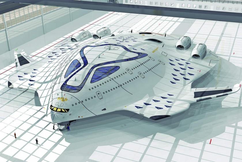 El El avión conceptual HSP Magnavem ideado por el diseñador industrial Oscar Viñals.