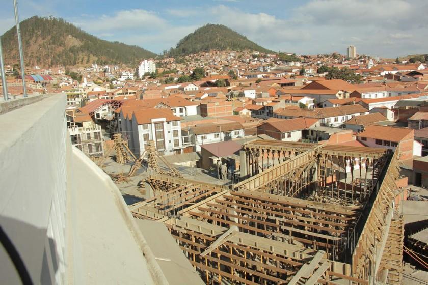 INFRAESTRUCTURA. En construcción el Centro Cultural La Sombrerería financiado por el Gobierno.