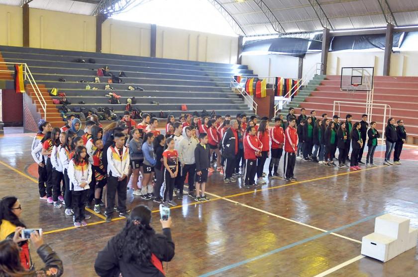 Cuatro colegios alemanes del país participaron de los Juegos.
