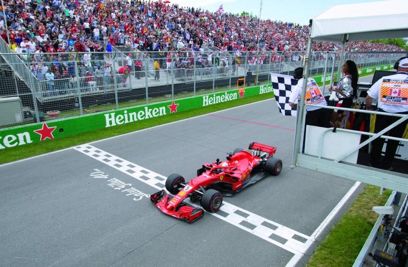 El piloto alemán fue el primero en cruzar la meta del  GP de Canadá.