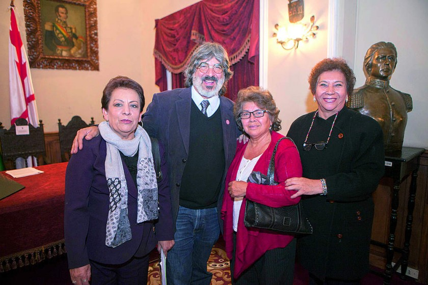 Rosario de Amusquívar, Bernardo Gantier, Rosa Ovando y Elba Wayar, voluntarias del Sagrado Corazón.
