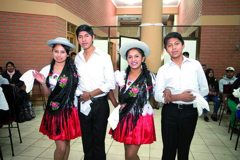 Soledad Gutiérrez, Jorge Manuel Tupa,  Susel Villca y Pablo Cruz.
