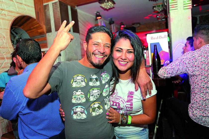 David Morales y Karen Encinas.