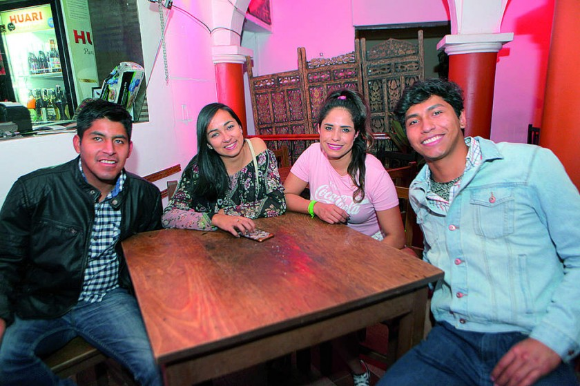 Noel, Claide, Paola y Joaquín.