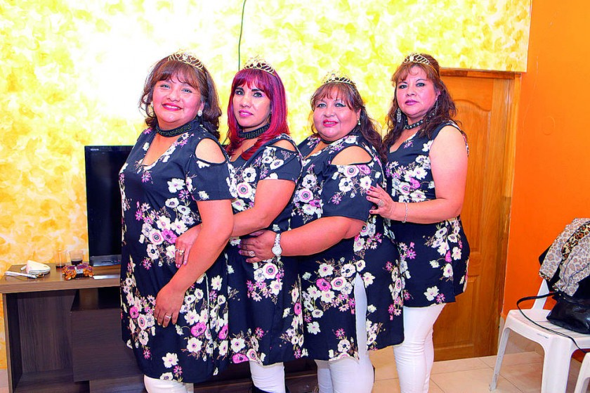 Vilma Saavedra, Yolanda Vargas, María Eugenia Albis  y Paola Serrudo.