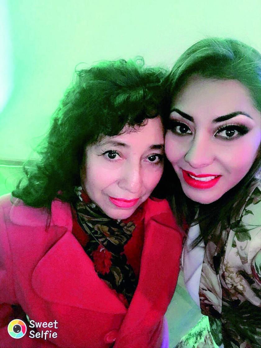 María Cristina Ortuño y Ghilka Fajardo.
