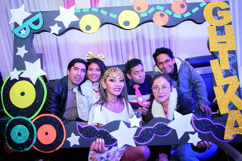 Armin Delgado, Roxana Funes, Ghilka Fajardo, Luis Vargas, Milenca Guzmán y Nicolás Porcel.