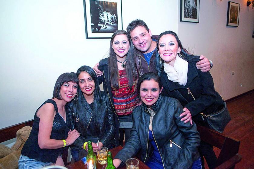 Natalia Gutiérrez, Marcela Linares,  Fabiola Raslán, Omar Abuawad, Claudia Paravicini  y Alejandra Auza.