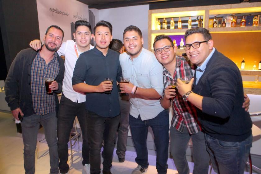 Fernando Ríos, Daniel Núñez, Pablo Lastra, Nacho Risco, Walter Rodríguez y Diego Rivera.