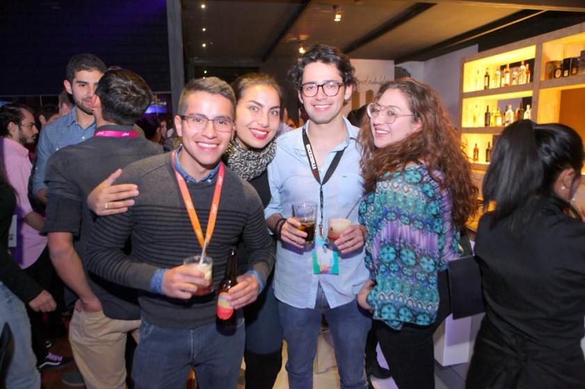 Sergio Guzmán, Alejandra Solares, Mauricio Villegas y Andrea Ramírez.