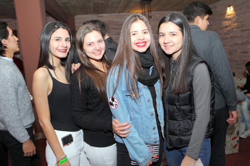 Luciana, Fabiana, Flavia y Faby.