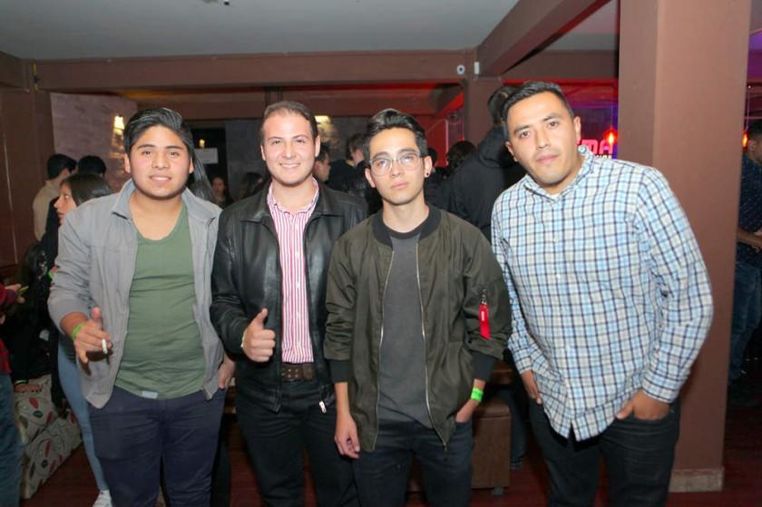 Gianmarco Justiniano, Franklin Avilés. Mauricio Suárez y Joel Torrez.