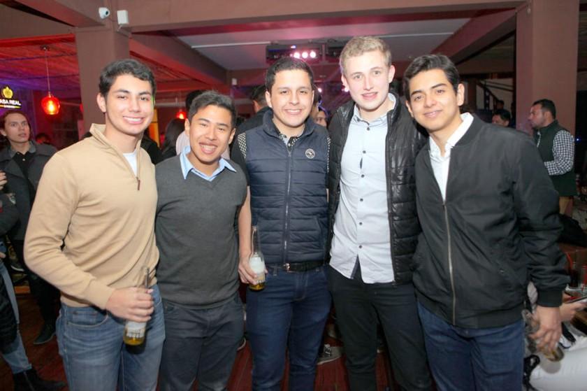 Mauricio Chajtur, Sebastián Guardia, Sebastián López, Andrés Prudencio y Nicolás Revollo.