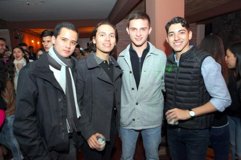 Fabricio, Mathías, Fabio y Juan Pablo.