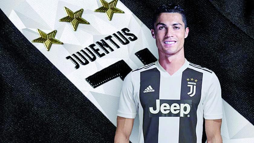 El diario español Marca hizo un fotomontaje del jugador portugués con la camiseta del Juventus de Turín.