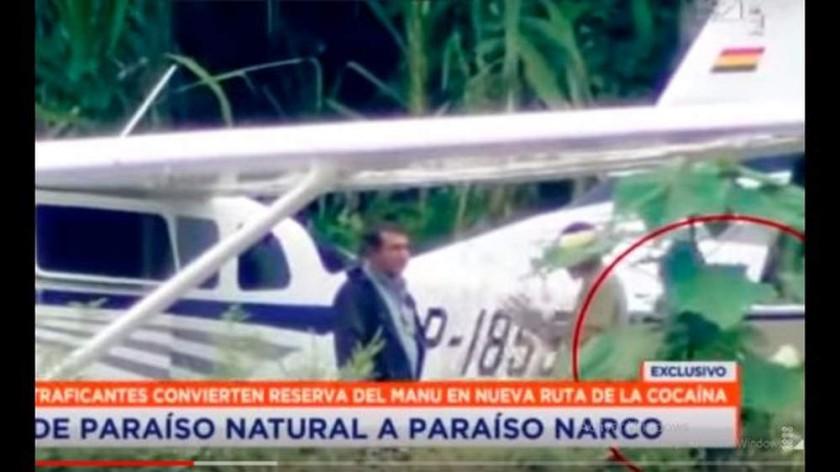OPERATIVO. La Policía de Perú sorprendió a los narcotraficantes cuando iban a despegar.