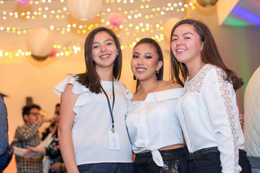 Yolanda Jadue, Fernanda Heredia y Guadalupe Jadue.