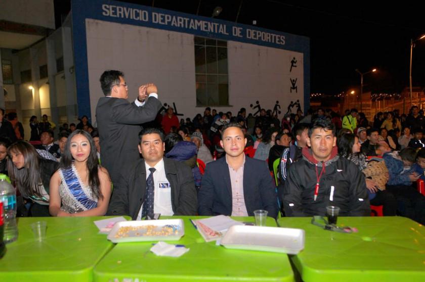 Génesis Peralta, Diego Mejía, Andrés Olhagaray y Juan Betanzos.