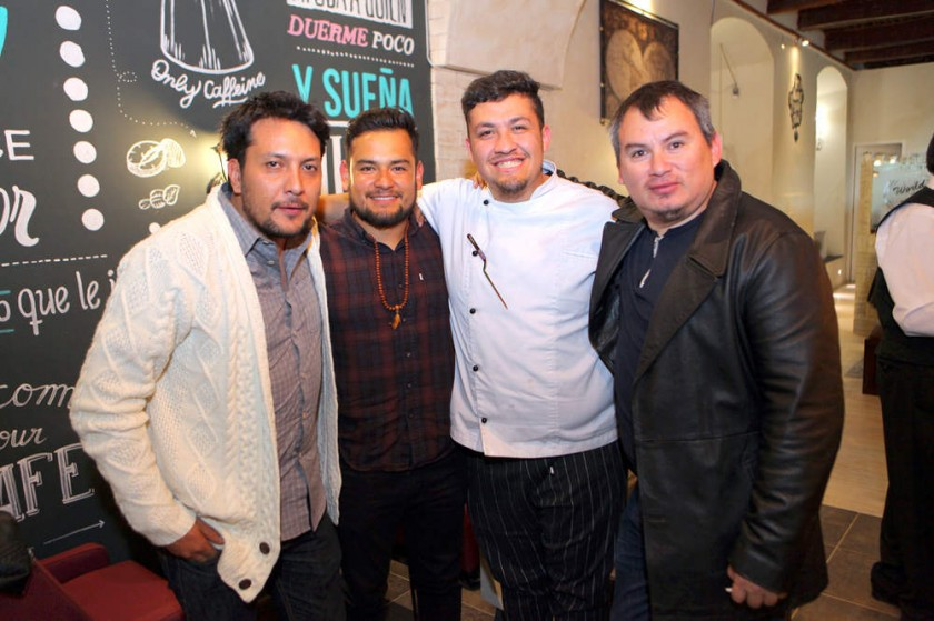 Juan Pablo Gumiel, Willy Vargas,  Fritz Hamel  y Eberti Burgos.