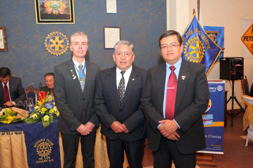 Presidentes entrantes: Cyril Lottici, Eduardo Díez Canseco y Boris Olguín.