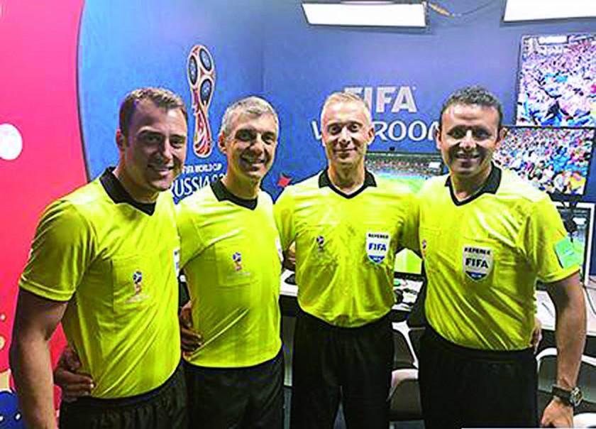 Gery Vargas, el árbitro boliviano que participó en el Mundial Rusia 2018.