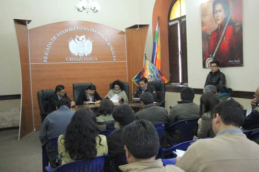 AUDIENCIA. Las instituciones de Sucre se reunieron para hablar del tema agua.