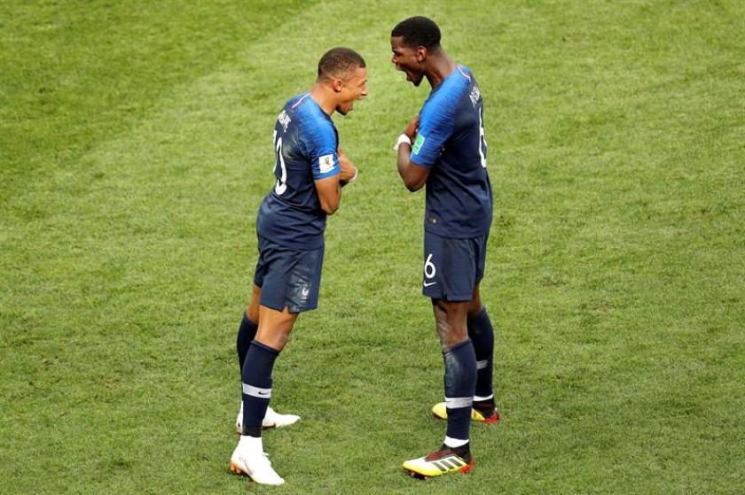la celebración de los franceses. EFE