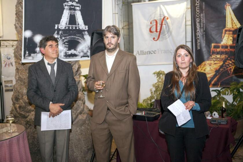 Autoridades: Domingo Izquierdo, Christophe Moris y Mathilde Pichot.