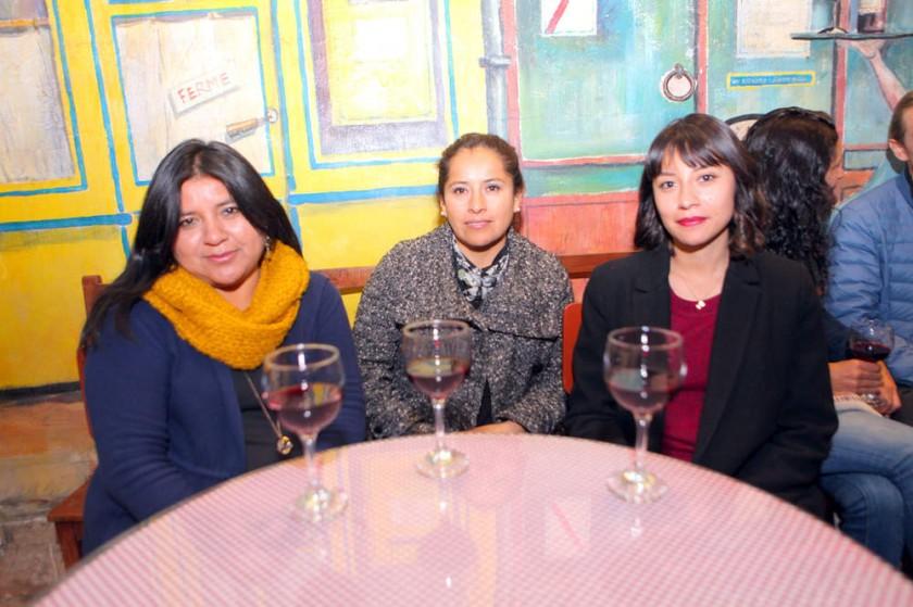 Soledad Villalta, Juana Flores y Raquel Sánchez.