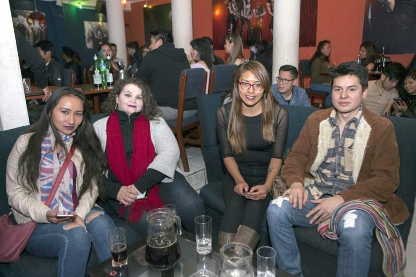 Belén Leytón, Minerva Caballero, Viviana Villca y Harold Díaz.