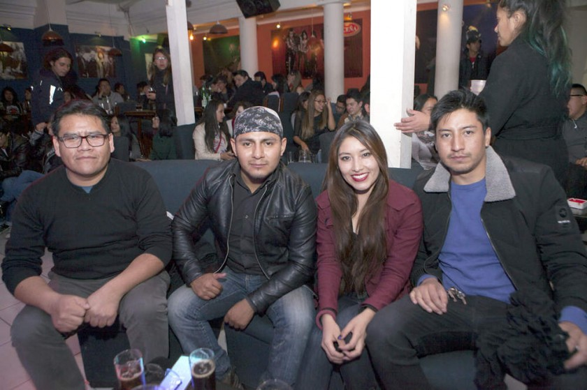 Edson Calizaya, Cristian Loayza, Mariela Vicente y Manuel Coca.