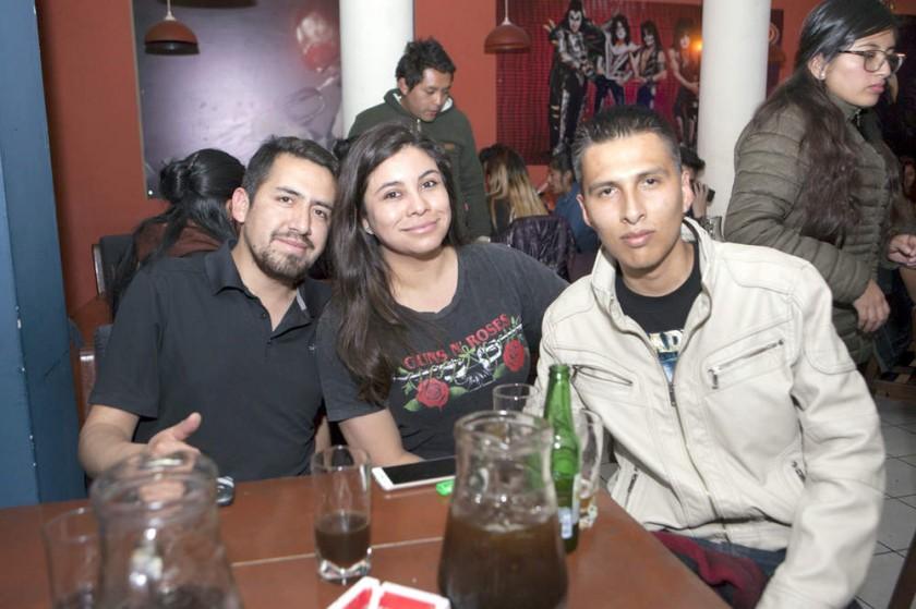 Cristian Rojas, Paola Zegada e Iván Rocha.