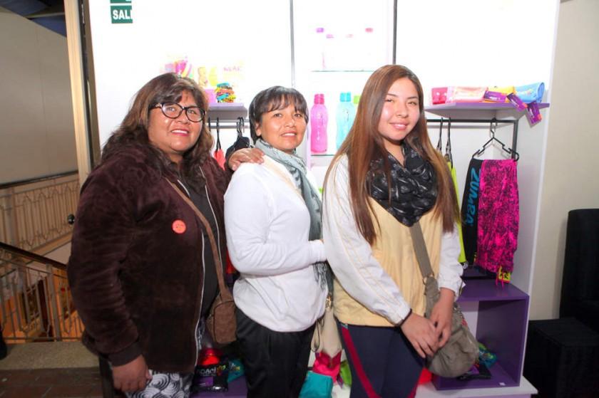 Susana Choque, Belinda Pinaya y Lourdes Vargas.