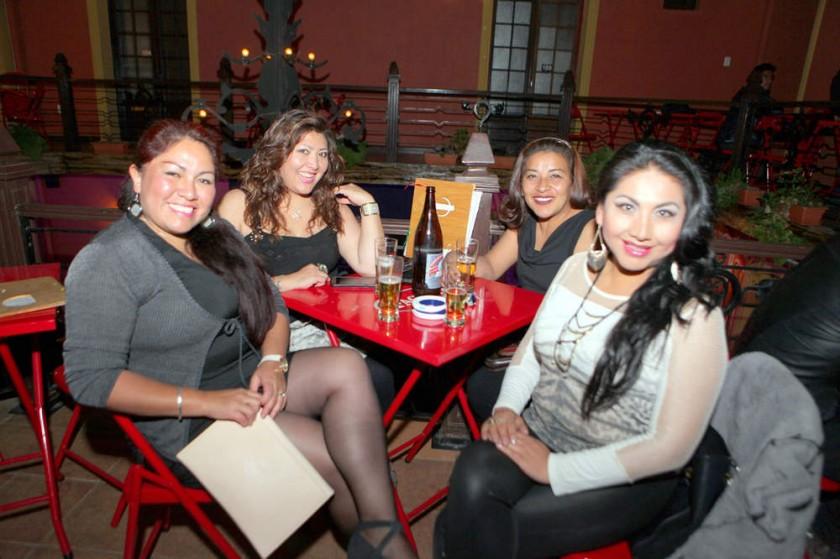María Teresa, Shirley Cuellar, Claudia López y Ninoska Flores.