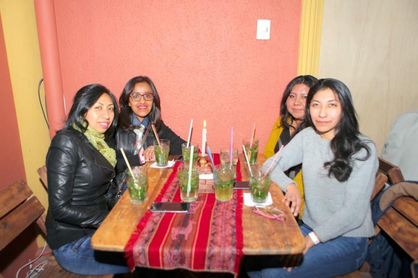 Vilma, Griselda, Paola y Daniela.