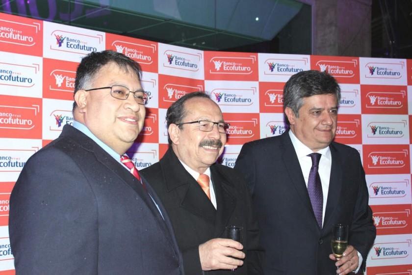 Fernando Mompó, Hugo Fernández y Javier Gómez, en el acto inaugural.
