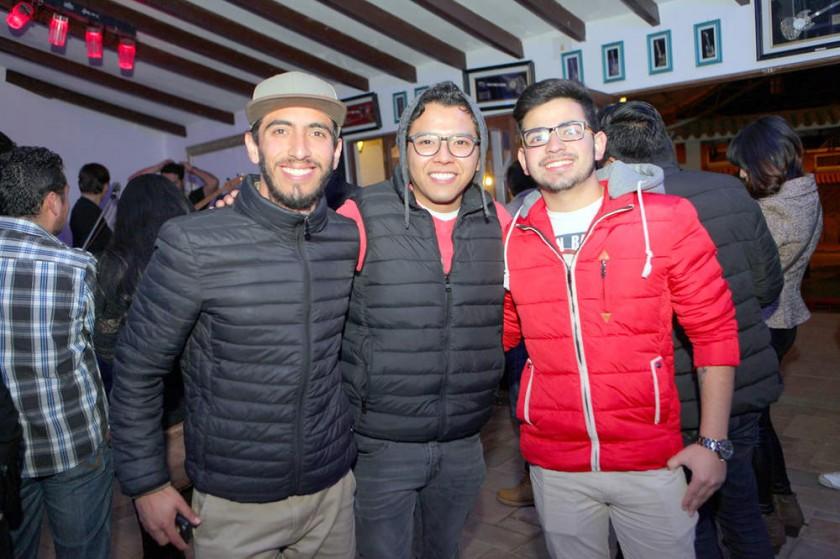 Miguel Abrego, Marco Portugal y David Abrego.