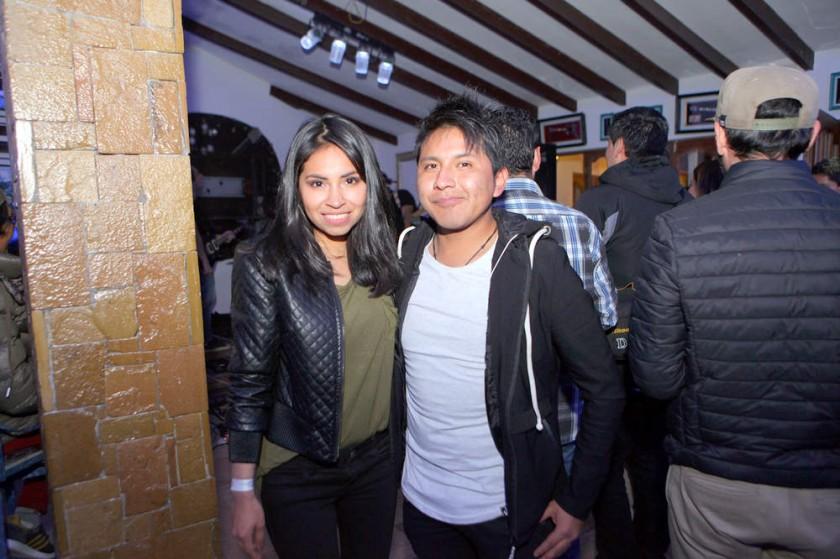 Karen Balderrama y Eddy Leaño.