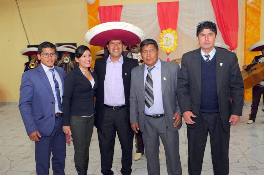Iván Mostajo, Lía Saigua, Edgar Soliz, Nicasio Ibarra  y Adolfo Martínez.