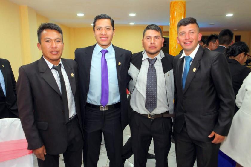 Alexander Bernal, Edson Canedo, Miguel Jiménez  y Manuel Ortubé.